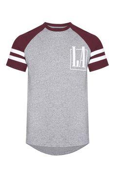 Red/Gray Raglan Sleeve T-Shirt