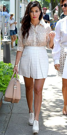 """Kourtney Kardashian's Fashion-Forward Bump Style 