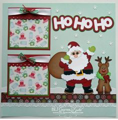 Premade Scrapbook Page Paper Piecing for Album Christmas Santa Boy Girl Baby | eBay
