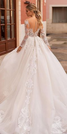 24 Best Lace Wedding Dresses With Sleeves ? lace wedding dresses with ball gown illusion back blush navibluebridal ? : 24 Best Lace Wedding Dresses With Sleeves ? lace wedding dresses with ball gown illusion back blush navibluebridal ? Country Wedding Dresses, Wedding Dress Trends, Best Wedding Dresses, Cheap Wedding Dress, Bridal Dresses, Bridesmaid Dresses, Timeless Wedding Dresses, Lace Bridesmaids, Modest Wedding