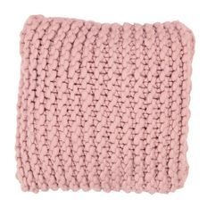 Living & Co Cushion Chunky Knit Pink 50cm x 50cm