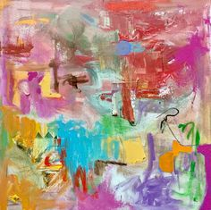 Heureux, 2017 Gabriele Stewart Mixed Media Unique Work Size : 24 x 24 x 1 in. Mixed Media Painting, Mixed Media Canvas, Abstract Painters, Paintings I Love, Cotton Canvas, Buy Art, Original Art, Hand Painted, Fine Art