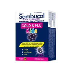Kids Cold & Flu Chewable by Sambucol Black Elderberry Fever And Sore Throat, Sambucol Black Elderberry, Organic Yogurt, Flu Symptoms, Yogurt Smoothies, Runny Nose