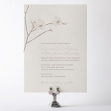 Orchid: Letterpress Wedding Invitation