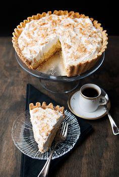 toasted coconut custard tart recipe | use real butter