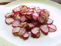 Made these yesterday, was a hit with the whole family. Crispy Baked Radish Chips (Low Fat/Low Carb). Photo by vivmom