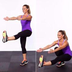 pistol-squat Fitness Goals, Fitness Tips, Fitness Motivation, Health Fitness, Hiit, Yoga, Pilates, Plie Squats, Zumba