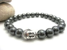 Mens Buddha Hematite Energy Bracelet $15.00
