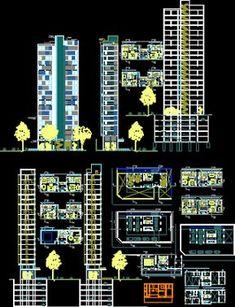 Engineering et Architecture: Plan Autocad d'un immeuble d'habitation en dwg Architecture Symbols, Landscape Architecture Design, Concept Architecture, Autocad Gratis, Plan Autocad, Structural Drawing, Hotel Floor Plan, Architectural House Plans, Cad Blocks