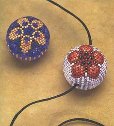 """Képtalálat a következőre: """"beaded bead 20 mm pattern delica"""""""