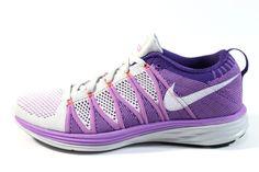Nike Women's Flyknit Lunar 2 Purple/Gray Running Shoes #Nike #Shoes #Purple/Gray #Running #Shoes #Deals #Sales #Style  Visit www.sneakerkingdom.com