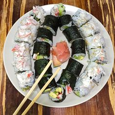 Homemade Sushi Platter: Easy California Rolls