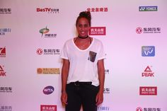 Madison Keys Photos Photos - Madison Keys of the United States poses for a picture at DongFeng Motor Wuhan Open Player Party at Wanda Realm Hotel on September 24, 2016 in Wuhan, China. - 2016 Wuhan Open - Preview