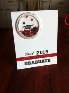 Graduation shaker card. #CTMH and #Lawn Fawn.