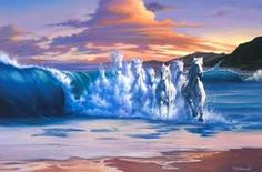 Image result for pictures of white horses in waves