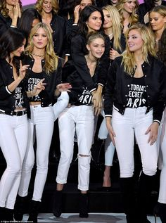 Model behaviour: Gigi and Bella Hadid, Kendall Jenner, Adriana Lima, Joan Smalls and Aless...