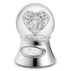 Elegant Snow Globes | Jeweled Heart Snow Globe - FindGift.com