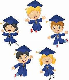 Cartoon little kids celebrate their graduation on vector image on VectorStock Graduation Cartoon, Graduation Clip Art, Graduation Diy, Kindergarten Graduation, Graduation Invitations, Girls Clips, School Clipart, Cartoon Kids, Illustration