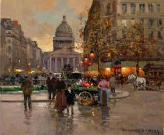 The Pantheon \\ Edouard Leon Cortes French ( 1882 - 1969 )