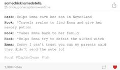 #OUAT I was like, hey, you said you could spot a liar.  You really lost your powers, didn't you?
