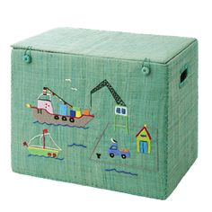 Medium Foldable Toy Basket with Harbour - RICE
