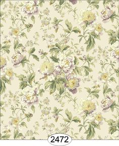 Wallpaper - Cozy Cottage Rose Garden - Antique [WAL2472] - $0.00 : itsy bitsy mini, Wholesale & Retail Dollhouse Wallpaper & Accessories