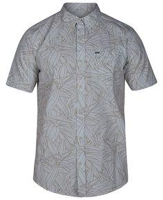 d3215c21a1 Hurley Men's Pupukea Palm-Print Pocket Shirt & Reviews - Casual Button-Down  Shirts - Men - Macy's