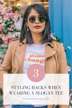 3 Ways to Style a Slogan Tee and Jeans Simple Outfits, Casual Outfits, Deep Red Lips, Navy Day, Moving To The Uk, I Love Fashion, Fashion Tips, Warm Weather Outfits, Slogan Tee