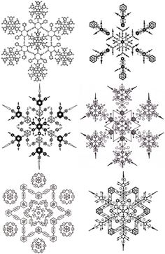 edward l. platt draws a snowflake by hand everyday...PenFlakes... lovely.
