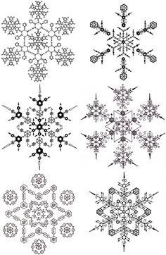 edward l. platt draws a snowflake by hand everyday...PenFlakes... lovely.