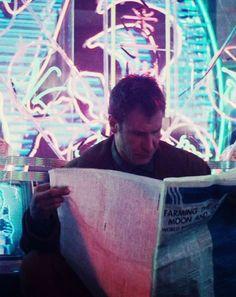 more human than human Blade Runner Rick Deckard_Harrison Ford Film Science Fiction, Fiction Movies, Film Blade Runner, Blade Runner 2049, Harrison Ford, Cyberpunk, Rick Deckard, Man In Black, Tv Movie