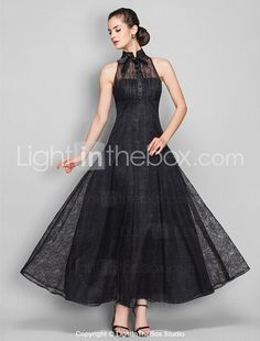 TS Couture® Formal Evening / Military Ball / Company Party / Family Gathering Dress - Vintage Inspired Plus Size / Petite A-line High Neck 2017 - €83.78