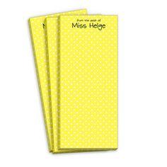 Petite Yellow Dot Skinnie Notepads