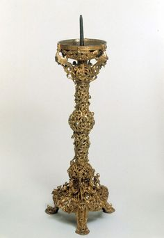 The Gloucester Candlestick, early 12th century, V&A Museum no. 7649-1861. Dimensions - Height 58 cm, width 20 cm, depth 20 cm, weight 5.76 kg