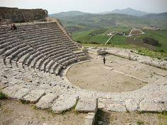 Old Greek Theatre in Segesta,  Sicily 026