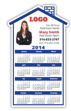 "Large House Magnetic Calendars 3 3/4""x 6 1/8"" • Free Shipping!      • Free Design!  Magnets keep selling long after other products have been tossed away and forgotten."