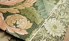 The Original Morris & Co - Arts and crafts, fabrics and wallpaper designs by William Morris & Company | Products | British/UK Fabrics and Wallpapers | Pure Strawberry Thief Embroidery (DMPU236072) | Pure Fabrics