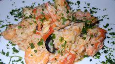 Risotto alla pescatora Plum Cake, Risotto Recipes, Seafood Recipes, Seafood Meals, Potato Salad, Tasty, Ethnic Recipes, Kitchen, Gnocchi
