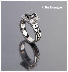 Diamante Negro Sterling Silver 925 Ring Black by GMADESIGNS1, $799.00