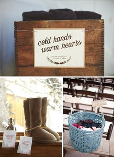 Great blog for my winter wedding... but will people steal my throws and scarves if I use the ones I already own?