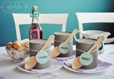 {painted tin can soup bowls} | {nifty thrifty things}