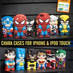 Superhero iphone super cases. | REASONS WHY I WANT AN iPHONE. | the Harley and joker are adorable!