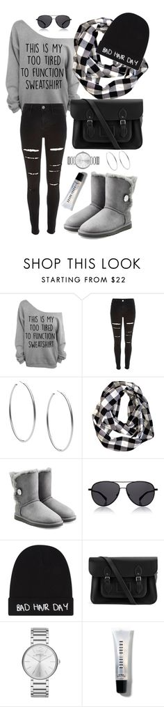 """""""""""On Friday we wear Black"""" Black Friday!"""" by rebecadeleon ❤ liked on Polyvore featuring River Island, Michael Kors, UGG Australia, The Row, Local Heroes, The Cambridge Satchel Company, Marc by Marc Jacobs, Bobbi Brown Cosmetics, white and black"""