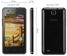 This phone will only work with GSM+WCDMA network Network type: GSMFrequency: GSM850/900/1800/1900MHz Unlocked for Worldwide use, please check if your local area network is compatible with this phone  Highlights: Type: LED Music Phone  Color: Black OS: Android 4.1 CPU: MTK6517 Dual Core 1G... Click on Picture to go to Store