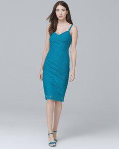 daeb14a4261 Women s Petite Sleeveless Lace Sheath Dress by White House Black Market