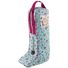 Equine Couture Bindia Boot Bag In Blue Monogrammed A 3 Initial Script