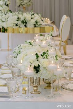 Peach, Green and Gold Centerpieces with Flowers and Candles Peonies Wedding Centerpieces, Gold Centerpieces, Wedding Flowers, Wedding Room Decorations, Green And Gold, Golden Hour, Wedding Inspiration, Wedding Ideas, Glamorous Wedding