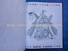 artes by Má: Festa - tema Circo = caderno de mensagens
