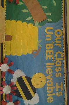 You Can Either Name It BEE HIVE Or Bumble Bulletin Boardit Is Very Colorful And Dont Need To Be An Artist Make One