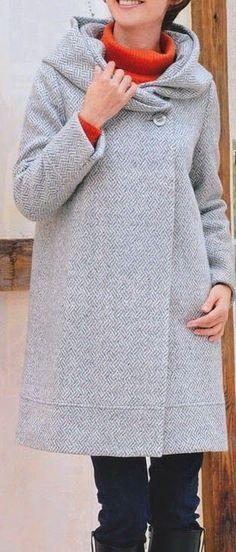 Hooded jacket free ladies sewing pattern